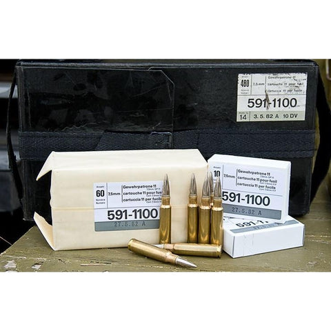 Ruag 7.5x55 GP11 Surplus Ammunition