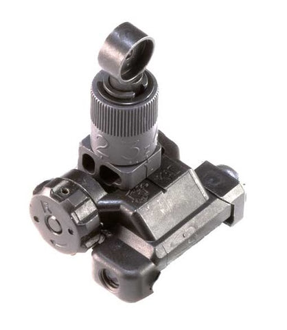 Knight's Armament Folding Micro Rear Sight, 200-600 Meter Adjustable