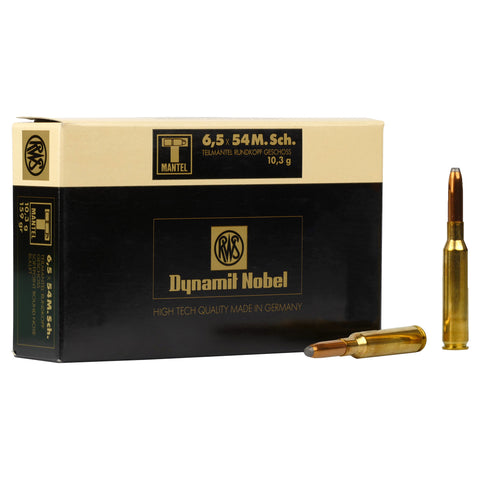 RWS 6.5x54MS 159gr Round Nose Ammunition