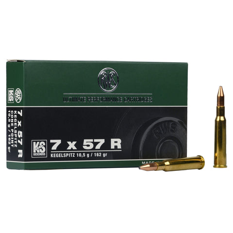 RWS 7x57 R 162gr Cone Point Ammunition