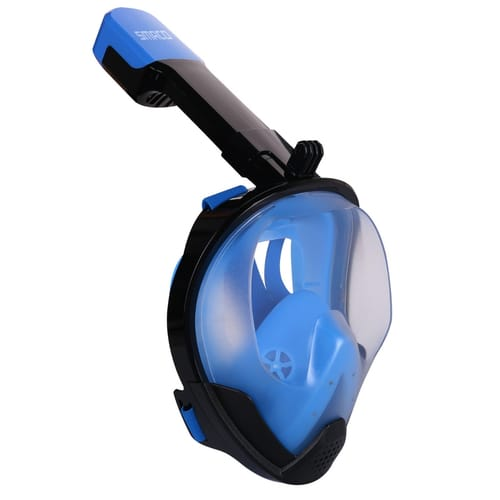 Smaco M8025G Double Channel Double Pipe Full Face Scuba Mask Snorkel Mask Easy Breath Black Blue Snorkeling