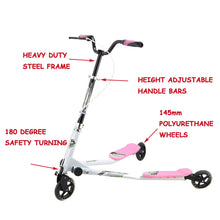 Load image into Gallery viewer, Yvolution Scooter Fliker Scooter Speeder Scooter Green scooter Black Scooter Pink Scooter Rideon Ride on Ride-on Toy