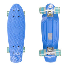 Load image into Gallery viewer, Retro Plastic Skateboard with LED Wheels