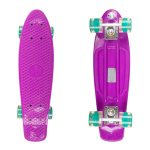 Retro Plastic Skateboard with LED Wheels