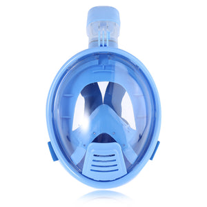 Smaco M2069G Kids Full Face Snorkeling Mask - Blue