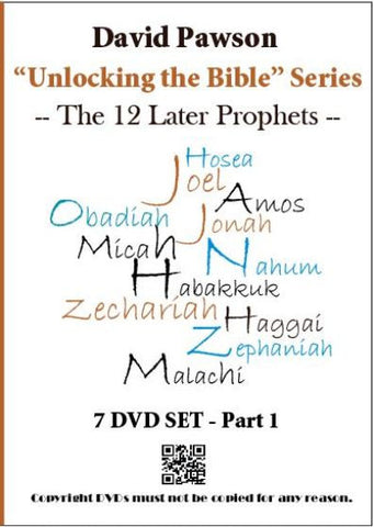 "David Pawson ""unlocking the bible""-The 12 Prophets DVD set"