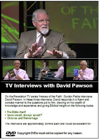 TV Interviews with David Pawson  (3 DVDs) - Inspirational Media