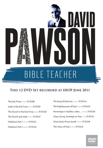 David Pawson Sermon-2011 IHOP 12 DVDs Set
