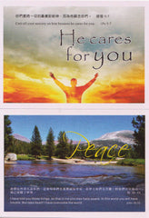 "--- Bible Verse 6-Card set --- ""PEACE""Theme - Inspirational Media  - 2"