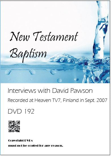 David Pawson - New Testament Baptism (1DVD) - Inspirational Media
