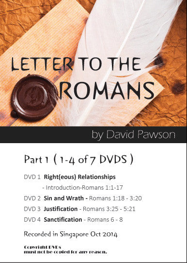 David Pawson - Letter to The Romans (7 DVDS) - Inspirational Media  - 1