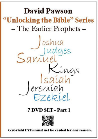 "David Pawson ""Unlocking the Bible""-The Earlier Prophets DVD set"