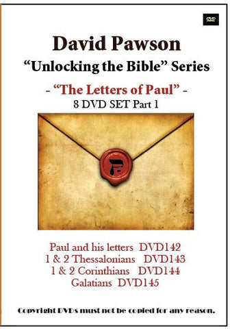 "David Pawson ""Unlocking the Bible""-The Letters of Paul DVD set (8 DVDs)"