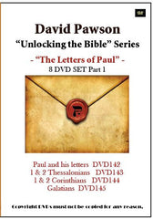 "David Pawson ""Unlocking the Bible""-The Letters of Paul DVD set (8 DVDs) - Inspirational Media  - 1"