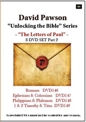 "David Pawson ""Unlocking the Bible""-The Letters of Paul DVD set (8 DVDs) - Inspirational Media  - 2"