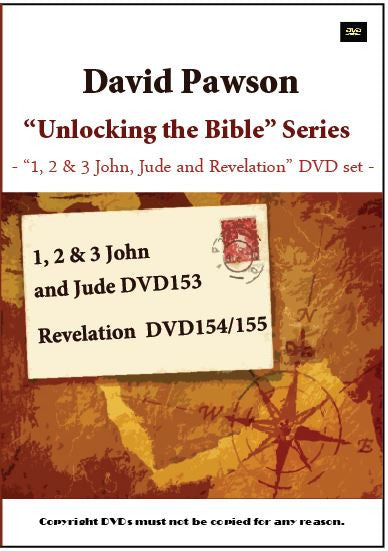 "David Pawson-""Unlocking the Bible""-1, 2 & 3 John, Jude and Revelation DVD set (3 DVDs) - Inspirational Media"