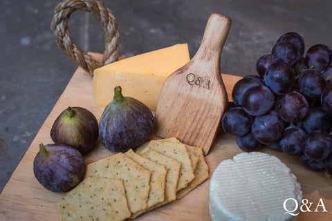 Cheese & Fig Platter Board and Cheese Knife Combo