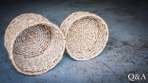 Hand Woven Basket - Round (small)