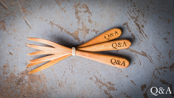 Hand Carved Wooden Forks (Set of 3)