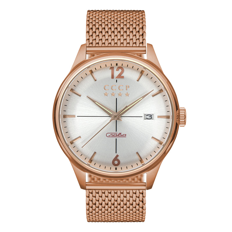 White / IP-Rose Gold