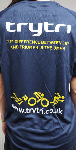 TryTri  Blue Training Tee