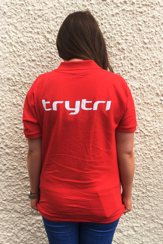 TryTri Red Polo Shirt