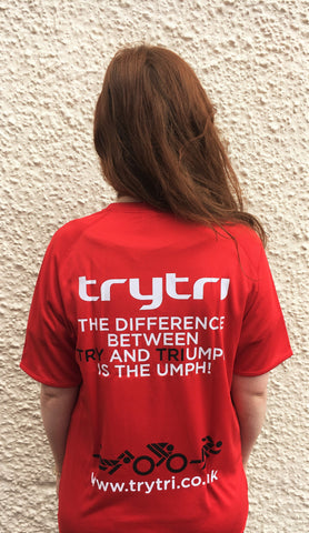 TryTri Red Cotton T-shirt