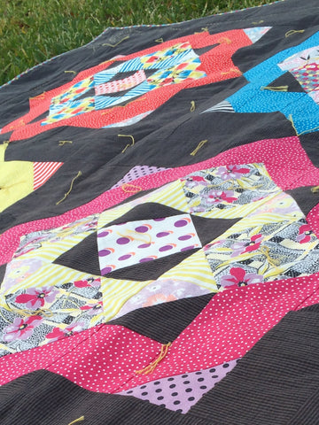 All Squared Up - Tie Quilt close up