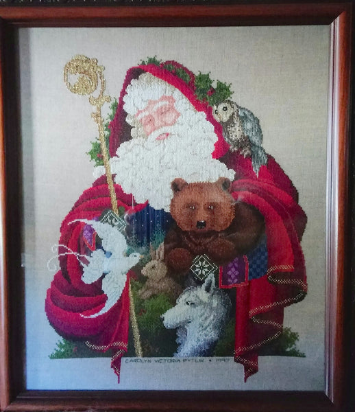 Carolyn's Cross Stitch Santa