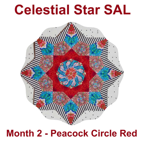Celestial Star SAL - Month 2 - Peacock Circle Red