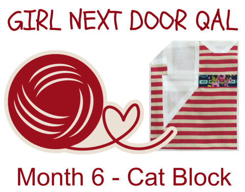 Girl Next Door QAL - Month 6 - Cat Block