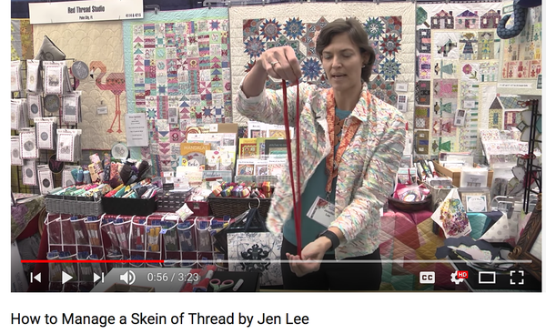How to Manage a Skein of Thread Tip - JenLee