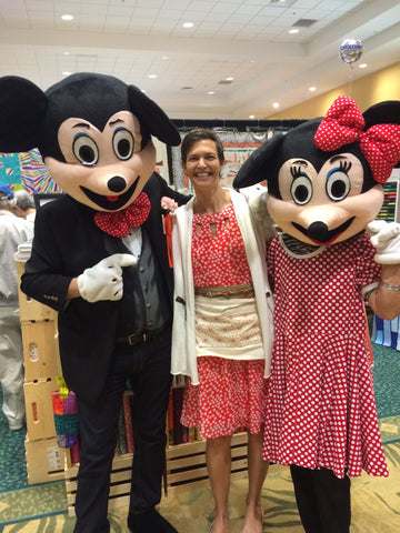 Jen with Micky and Minnie