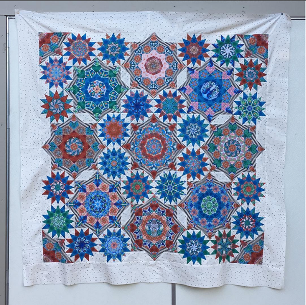 Celestial Star SAL - Completed Quilt Top
