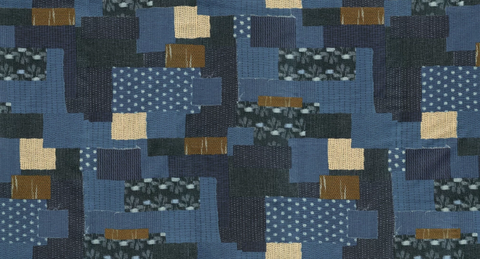 Boro Bodoko in Navy by Moda Fabrics