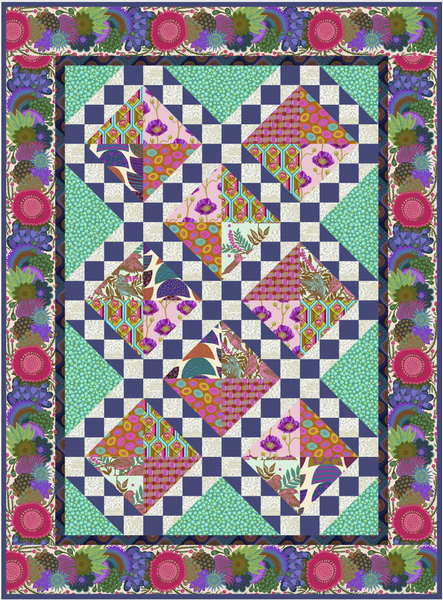 Jade Song and Dance Lap Quilt