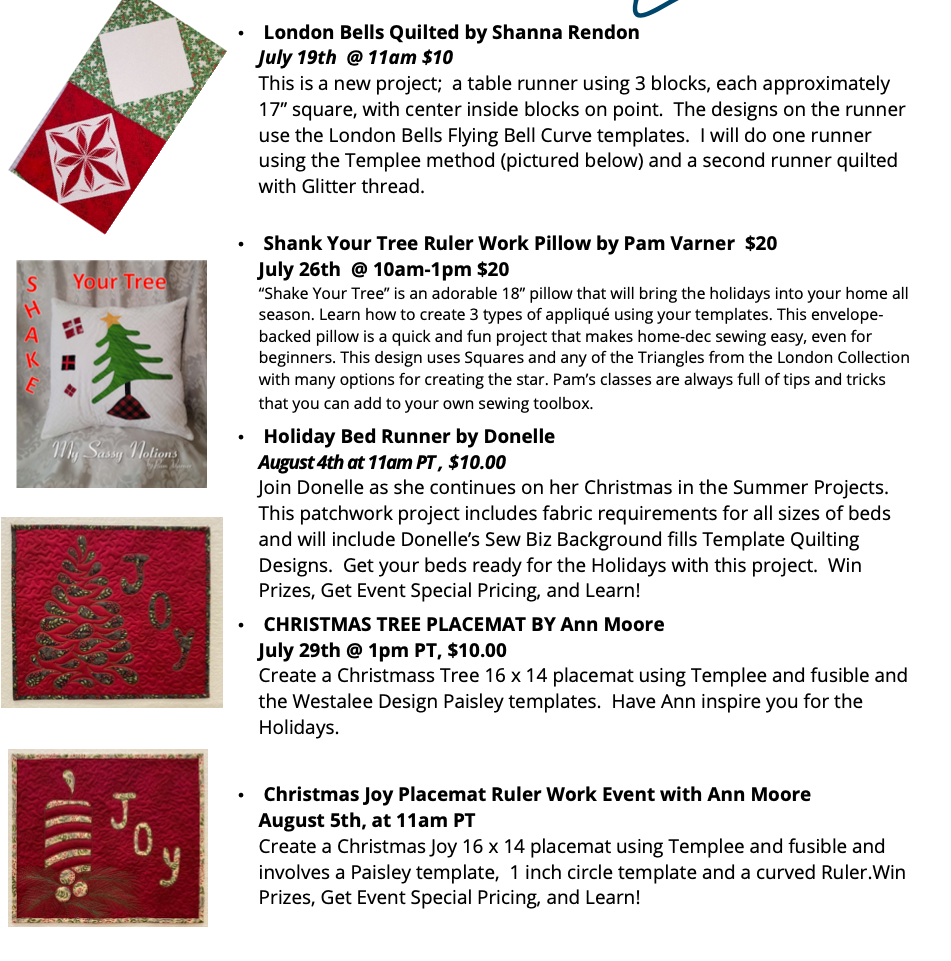 Christmas in Summer classes 2