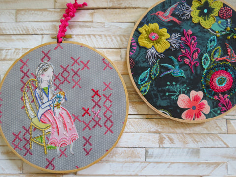 Wild Boho Stitching Girl and Floral