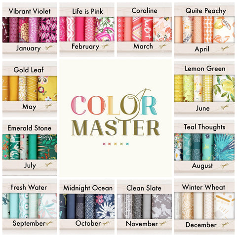 Art Gallery Fabrics Color Master - Fabric Bundle of the Month Program **Starts January 2019**