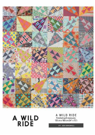 A Wild Ride Quilt Pattern designed by Jen Kingwell