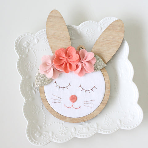 Beatrice Bunny Wall Frame by Molly and Mama