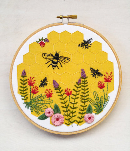Bee Lovely Embroidery Kit by CozyBlue **More on the Way - Reserve Yours Now**