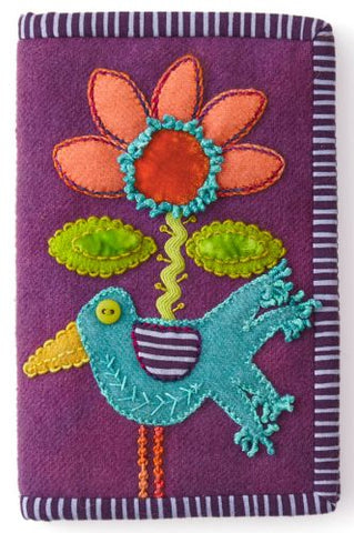 Bird and Bloom Needle Case by Sue Spargo