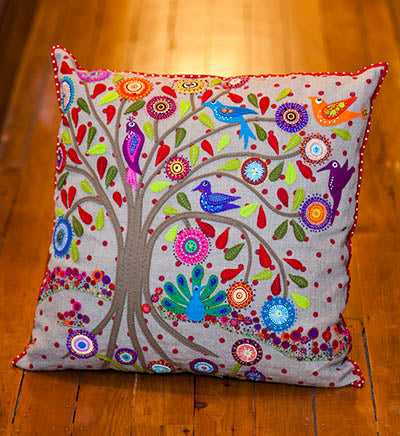 Birdsville Cushion Pattern by Wendy Williams