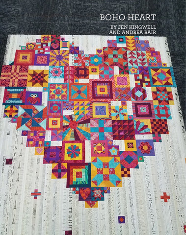 Boho Heart Quilt Pattern designed by Andrea Bair and Jen Kingwell