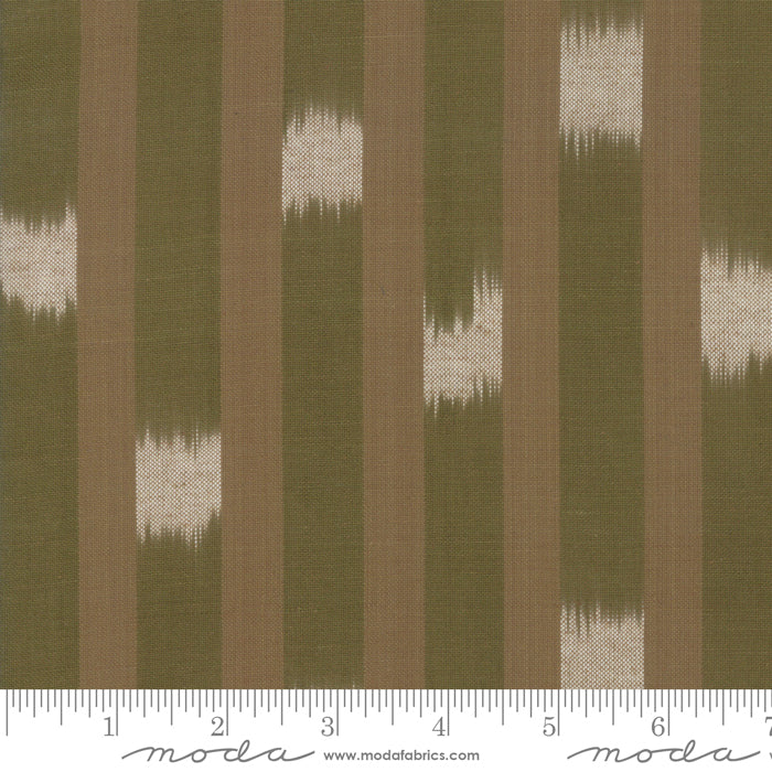 Boro Wovens - Checker Stripes in Flax by Moda Fabrics