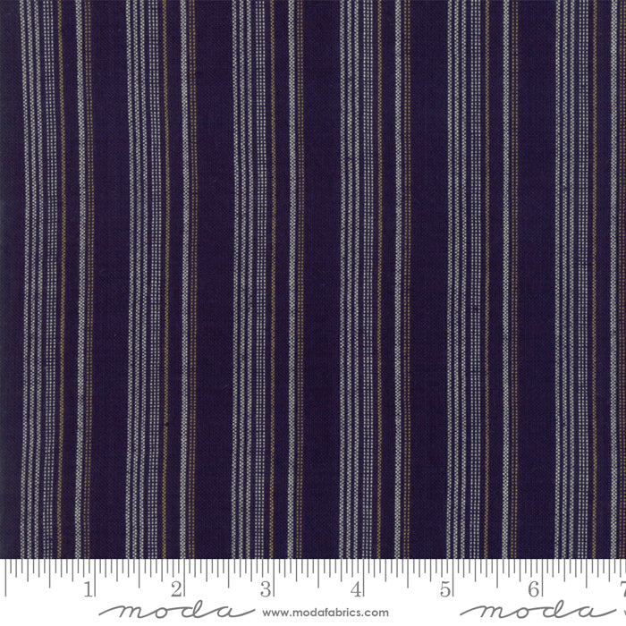 Boro Wovens - Stripes in Dark Indigo by Moda Fabrics
