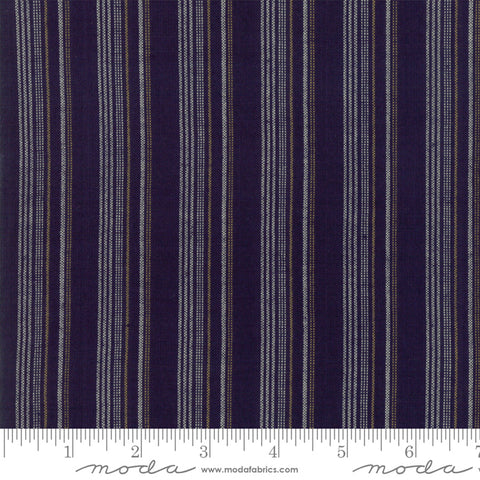 Boro Wovens by Moda Fabrics - 12560 35 Stripes in Dark Indigo