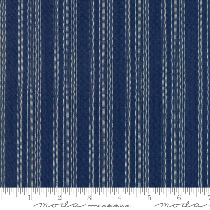 Boro Wovens - Stripes in Indigo by Moda Fabrics