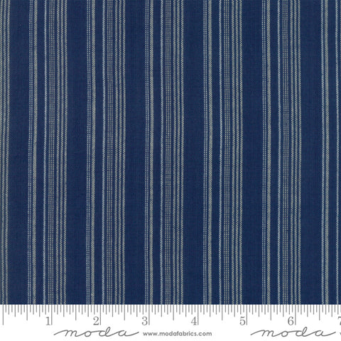 Boro Wovens by Moda Fabrics - 12560 19 Stripes in Indigo